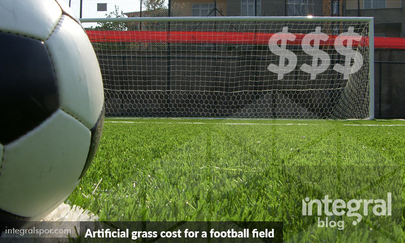 How much does artificial grass cost for a football field?