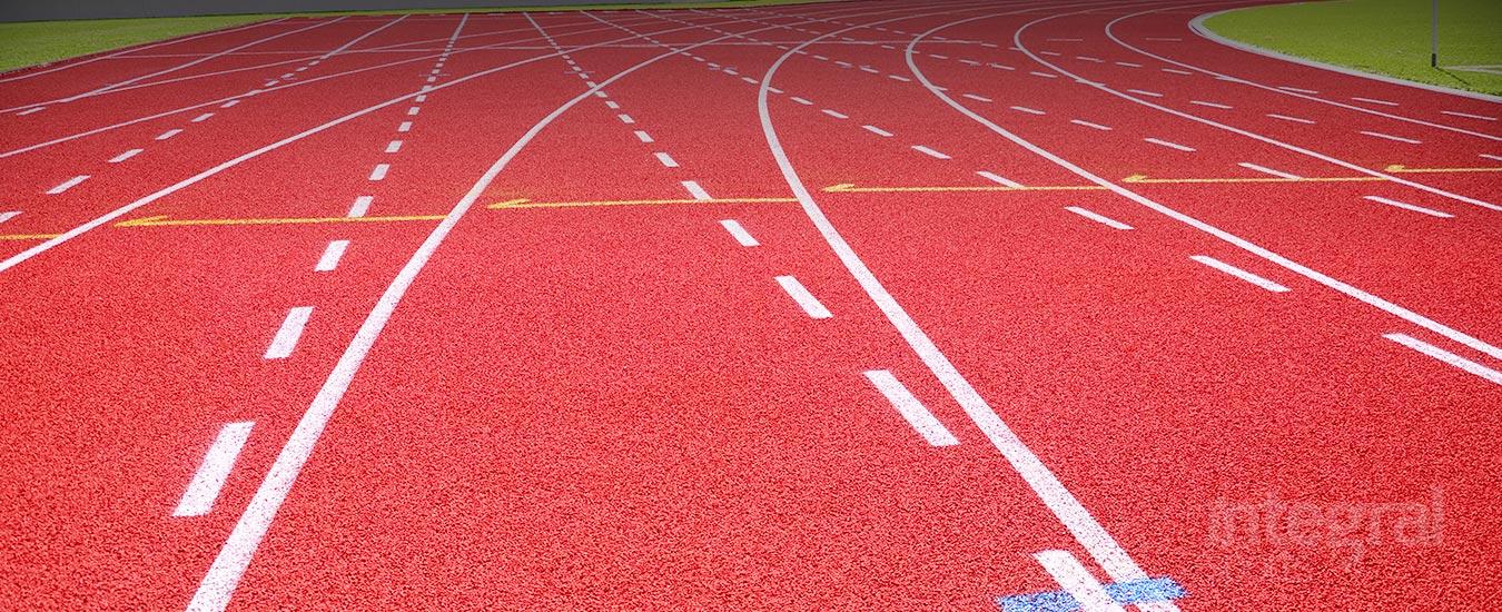 Revêtement pour Pistes d'Athlétisme en Caoutchouc