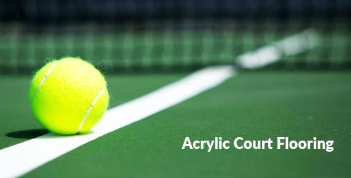 Acrylic tennis court surfaces