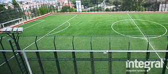 Artificial Turf Football Pitch Construction